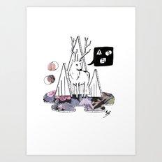Collage Deer Art Print