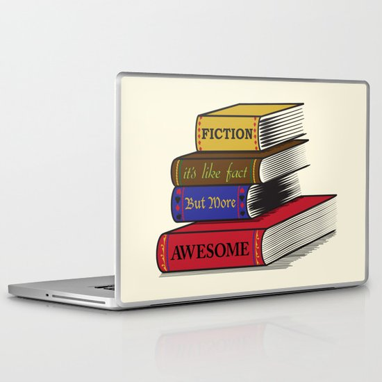 Fiction is Awesome Laptop & iPad Skin