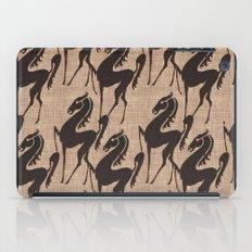Burlap horses iPad Case