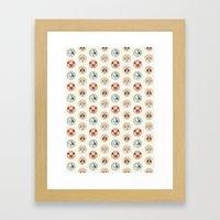 Circle Pup Pattern Framed Art Print