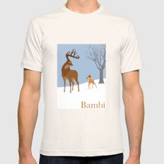 Bambi Mens Fitted Tee Natural SMALL