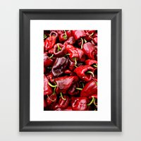 Spicy Red Framed Art Print