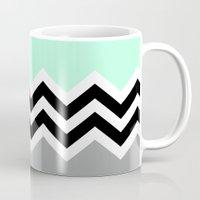 DOUBLE COLORBLOCK CHEVRON {MINT/BLACK/GRAY} Mug