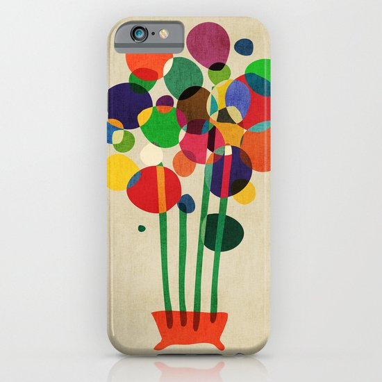 Happy flowers in the vase iPhone & iPod Case