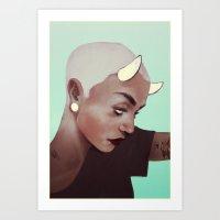 horns and plugs Art Print
