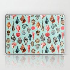 Seashells ocean nautical beach seaside children kids baby home dec shell illustration Andrea Lauren  Laptop & iPad Skin