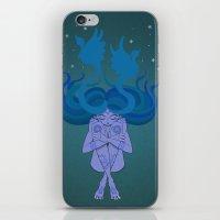 Blue Goddess iPhone & iPod Skin