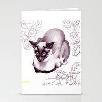 Siamese Champion Cat Stationery Cards