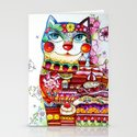 Sweet  Tooth Cat  Stationery Cards