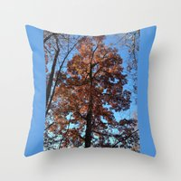 Throw Pillow featuring Oak Tree at Dawn by Rogue Crafter