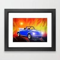 70 VW Super Beetle Framed Art Print