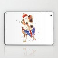 LONDON - Jack Russell Art - Union Jack Laptop & iPad Skin