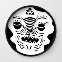 stencil face TEE invert Wall Clock