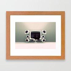 Liquid Crystal Display Framed Art Print