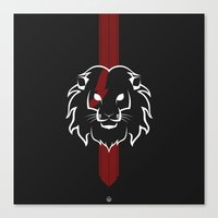 Monarch (White & Red) Canvas Print