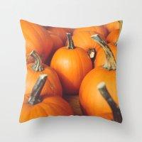 Cute Lil' Pumpkins Throw Pillow
