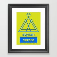 Styrian Cerera Single Ho… Framed Art Print