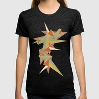 Abstract Crane Womens Fitted Tee Tri-Black SMALL