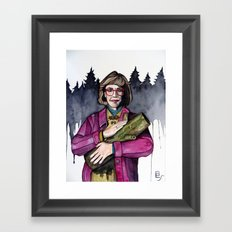 Twin Peaks Log Lady  Framed Art Print