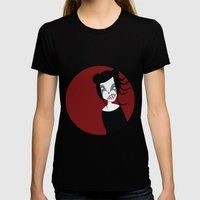 Under The Red Moon Womens Fitted Tee Black SMALL