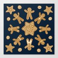 Gingerbread Snowflake Canvas Print