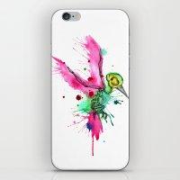 Hummingbird Skeleton Wat… iPhone & iPod Skin