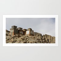 Ancient Chortens Art Print