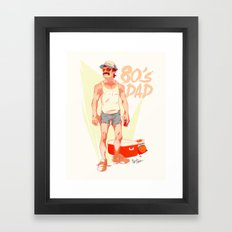The 80's Dad Framed Art Print