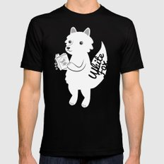 White Fox Mens Fitted Tee Black SMALL