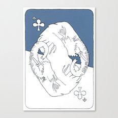 Elephant Card Canvas Print