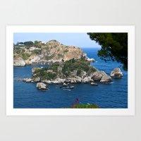 Isola Bella Bay Of Taorm… Art Print