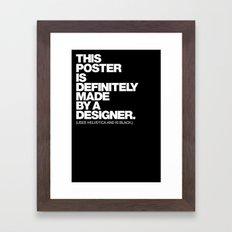 STEREOTYPE Framed Art Print