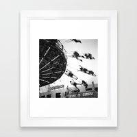 At The Fair: The Swings Framed Art Print
