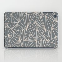 Ab Fan Grey And Nude iPad Case