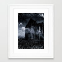 house on the edge Framed Art Print