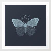 Joy Butterfly Art Print