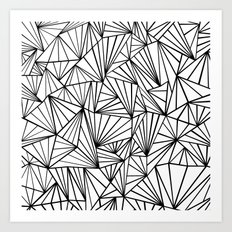 Ab Fan #2 White Art Print
