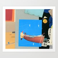 Aquatic Huntsman Art Print