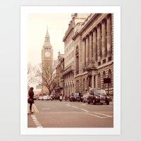 London Girl Art Print