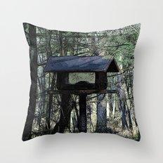 The Bird House Throw Pillow