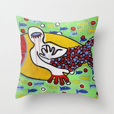 Pourquoi? Throw Pillow