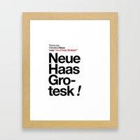 Helvetica Neue / Neue Ha… Framed Art Print
