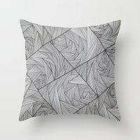 2829 Lines Throw Pillow