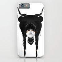 iPhone Cases featuring Bear Warrior by Ruben Ireland