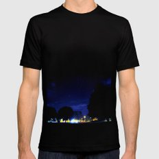 night space. Mens Fitted Tee Black SMALL