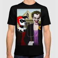 Why So American Gothic? Mens Fitted Tee Black SMALL