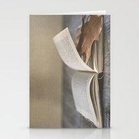 Libro y otoño.  Stationery Cards