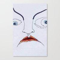 Facer Canvas Print