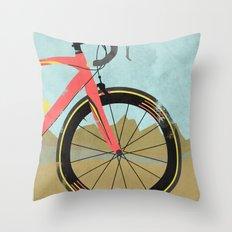 Vuelta a Espana Bike Throw Pillow