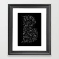B Letter Framed Art Print